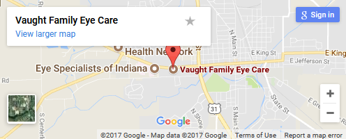 Vaught Family Eye Care map